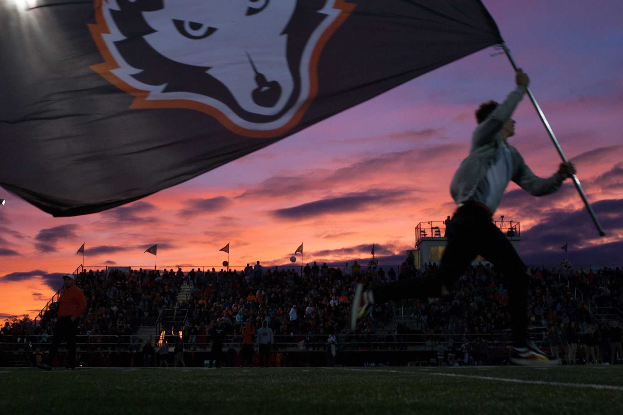 Harlem's football team takes the field during their Homecoming game against Boylan on Friday, Sept. 21, 2018, at Harlem High School in Machesney Park. [SCOTT P. YATES/RRSTAR.COM & THE JOURNAL-STANDARD STAFF]