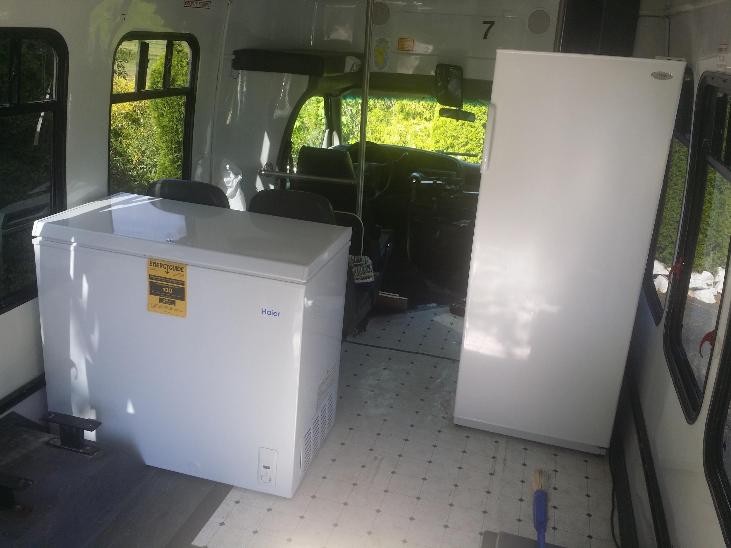 Placing the freezer and refrigerator