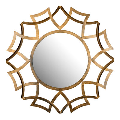 Safavieh Inca Wall Mirror in Gold
