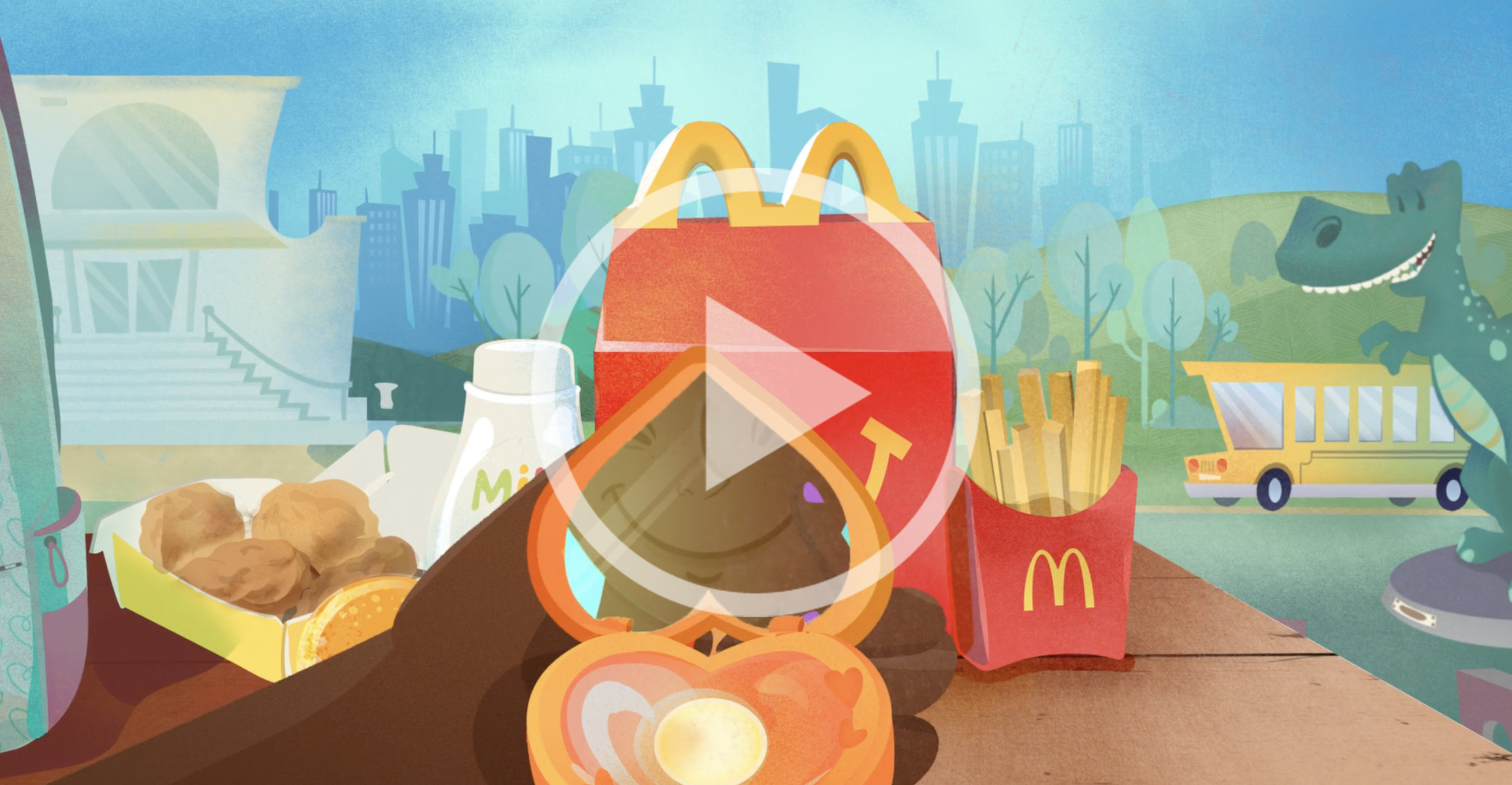 Creating Assets, Character Designs, and Environments for McDonalds Happy Meals, Flavor Design