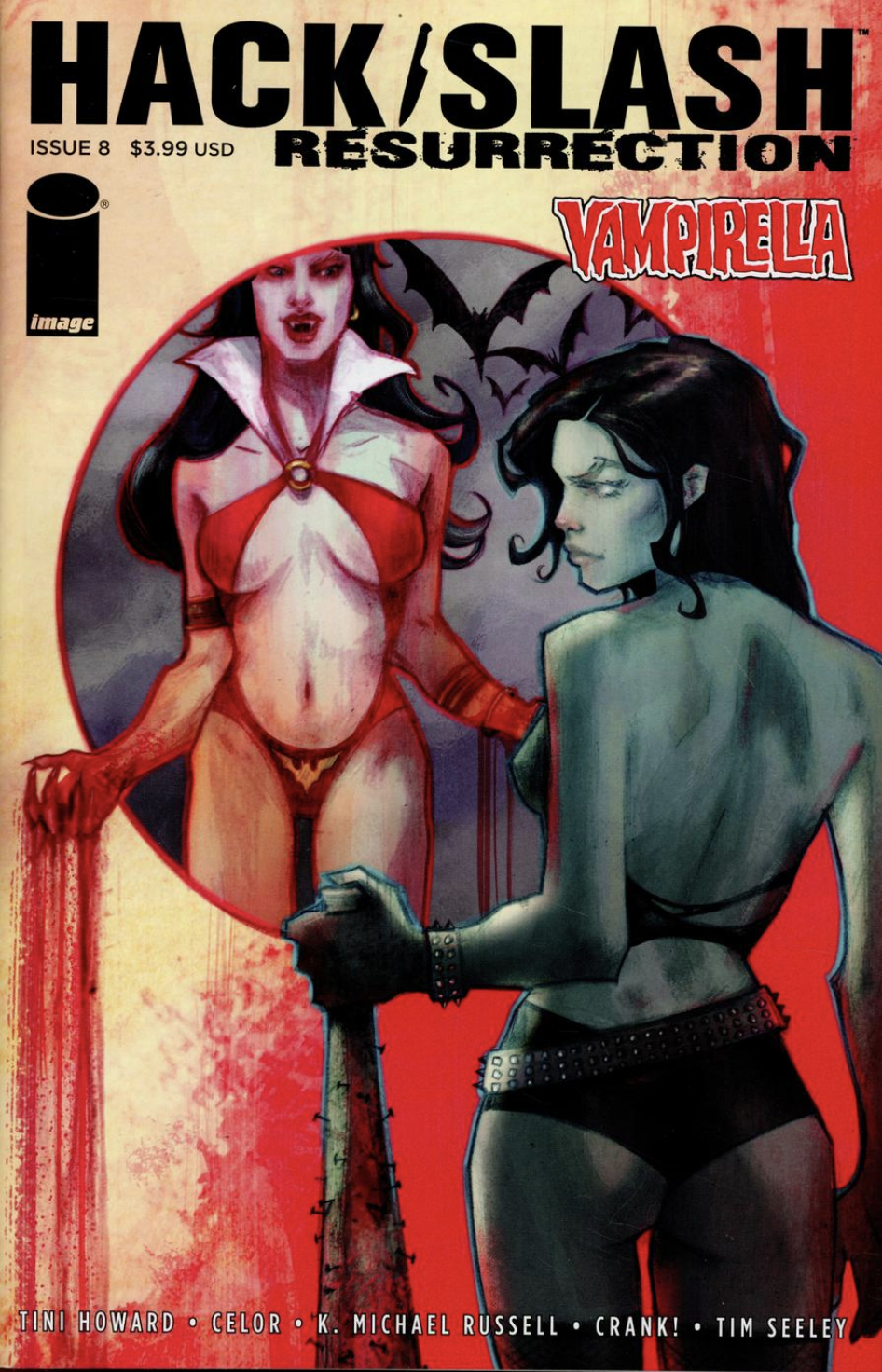 "Variant Cover for Issue #8 of ""Hackslash and Vampirella"", Image Comics"