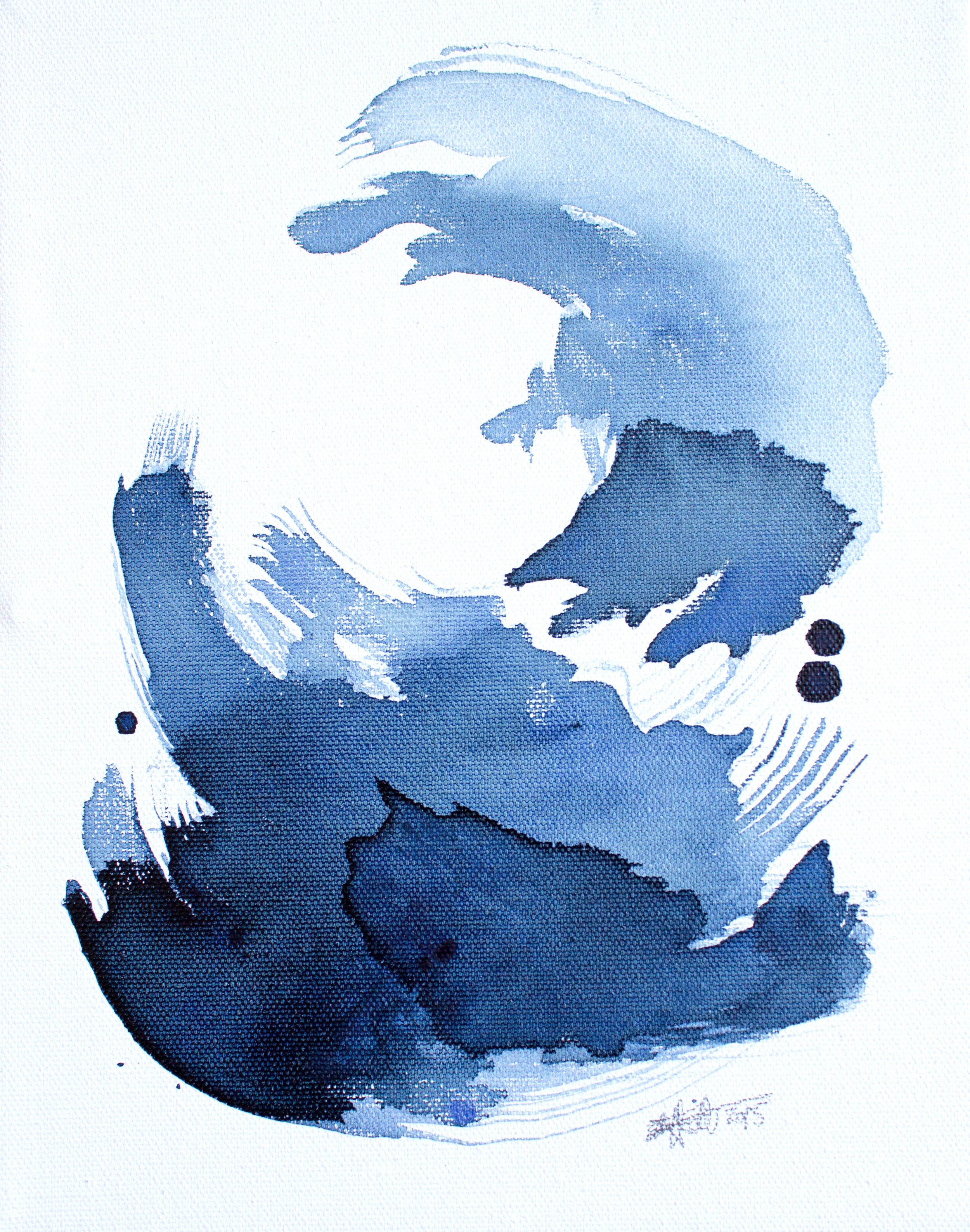 EH Sherman Watercolor Abstracts - Currents