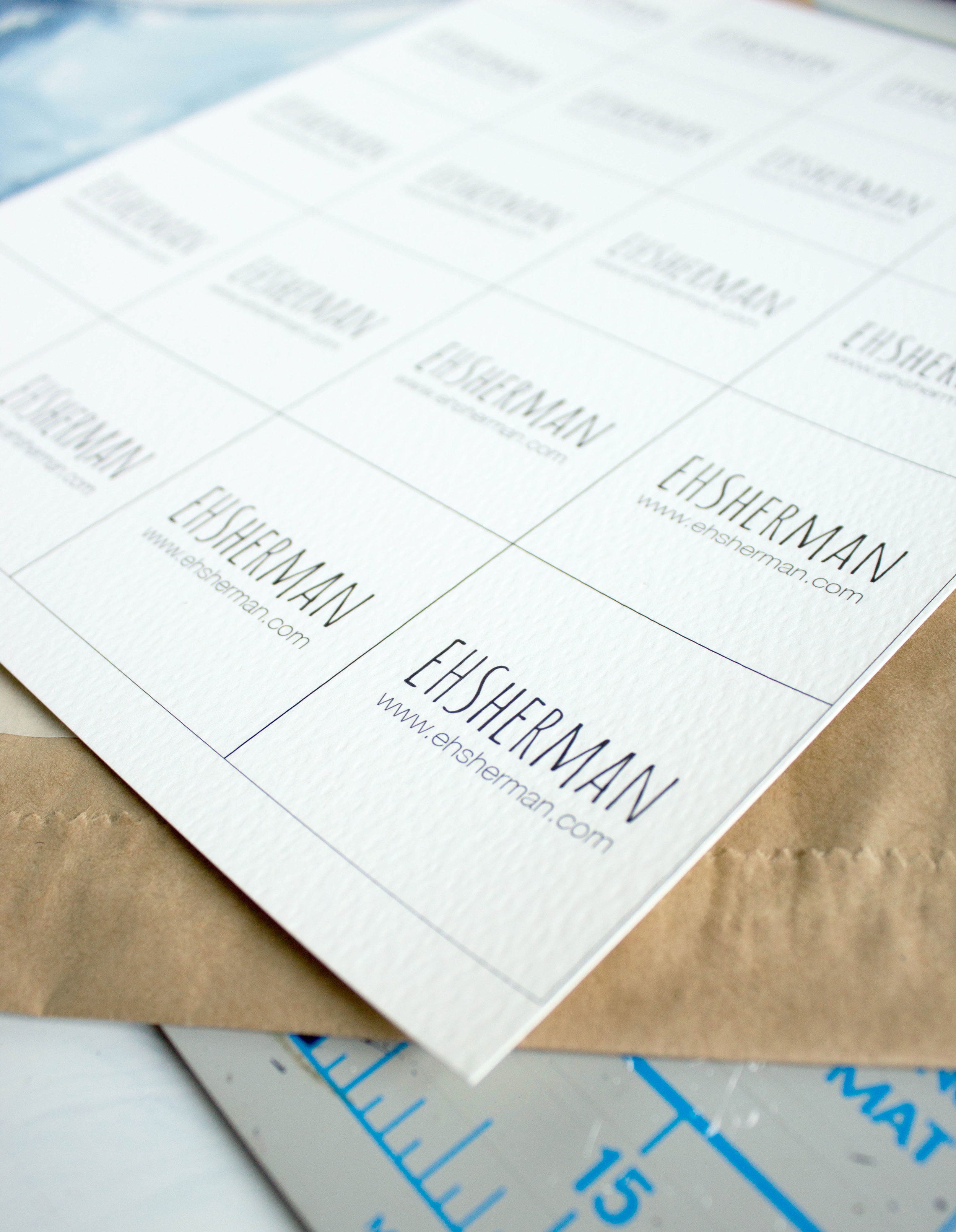 Watercolor Business Card How To by EH Sherman