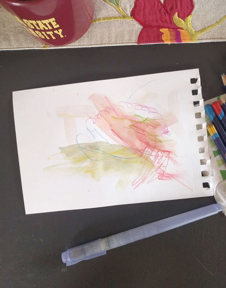 sketching with a toddler