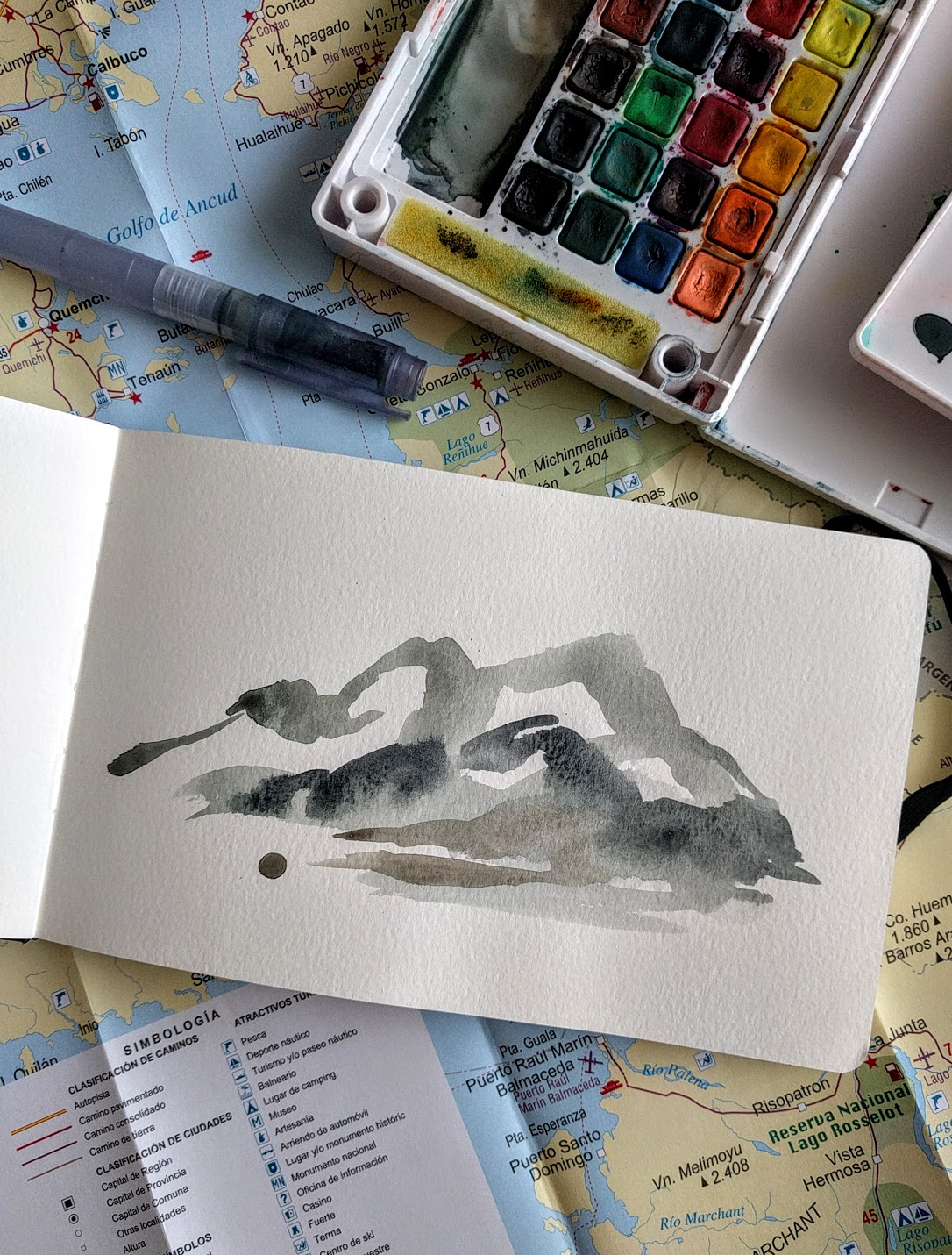 Ellen Sherman abstract watercolor landscape