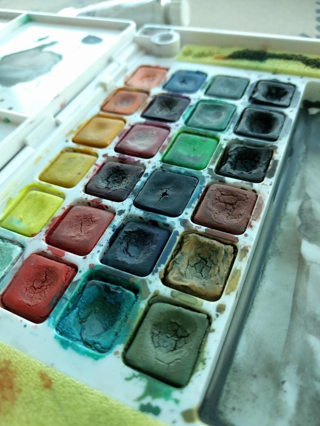 Ellen Sherman's watercolor travel supplies