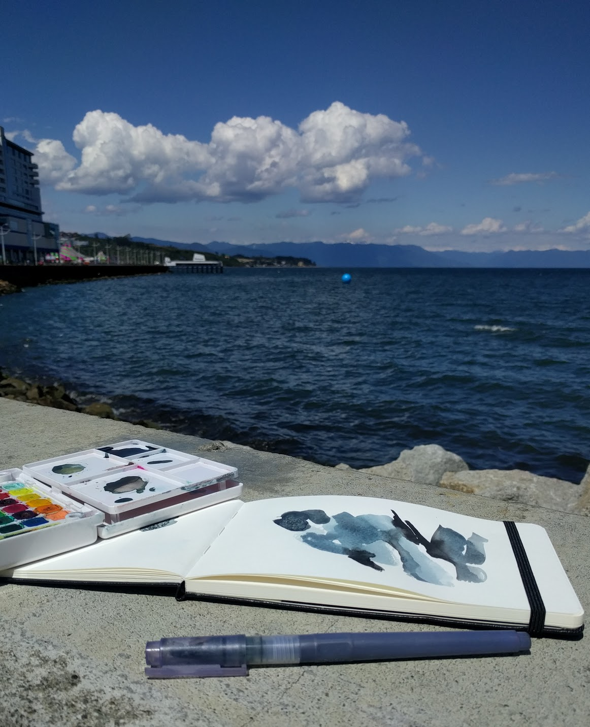 Artist on Vacation - supplies by EH Sherman