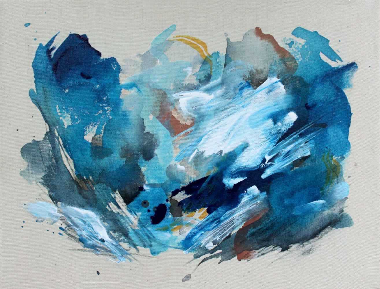 Winds of Change - 18 x 14 Watercolor and acrylic on linen
