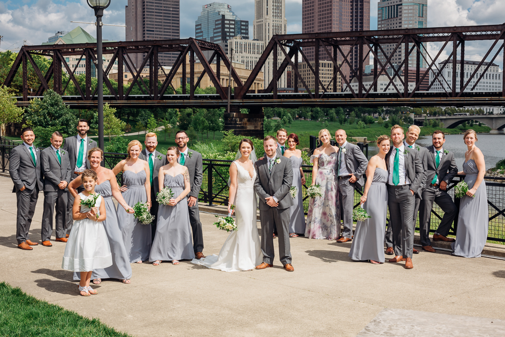 large-bridal-party-whole-group-shot-outdoor-in-summer-northbank-park-columbus-ohio-wedding-photography-ce-moment-photography2.jpg