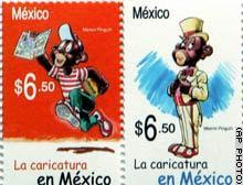 """The popular cartoon """"Memín Pinguín"""" from Mexico was commemorated with a stamp in 2007"""