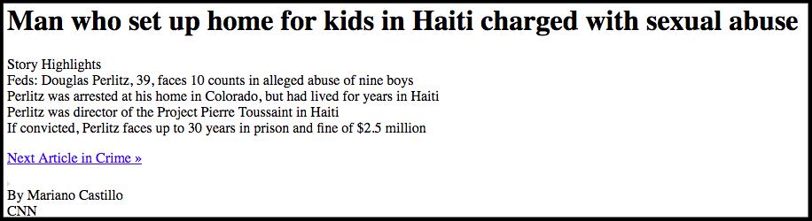 Oxfam sex abuse scandal in haiti