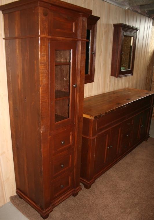 Reclaimed Wood Antique Bathroom Vanity For Sale