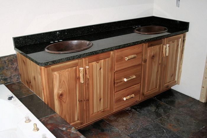 Rustic Cedar Bathroom Vanity