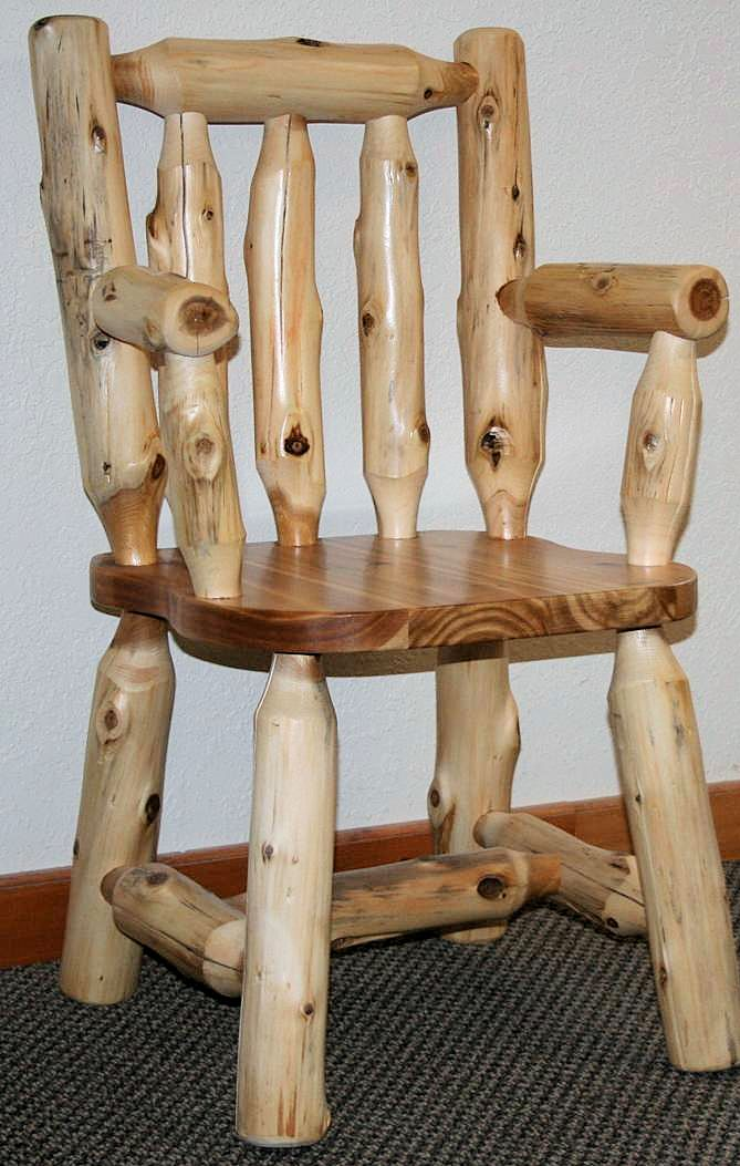 Cedar Log Dining Chairs Barn Wood Furniture Rustic Barnwood And