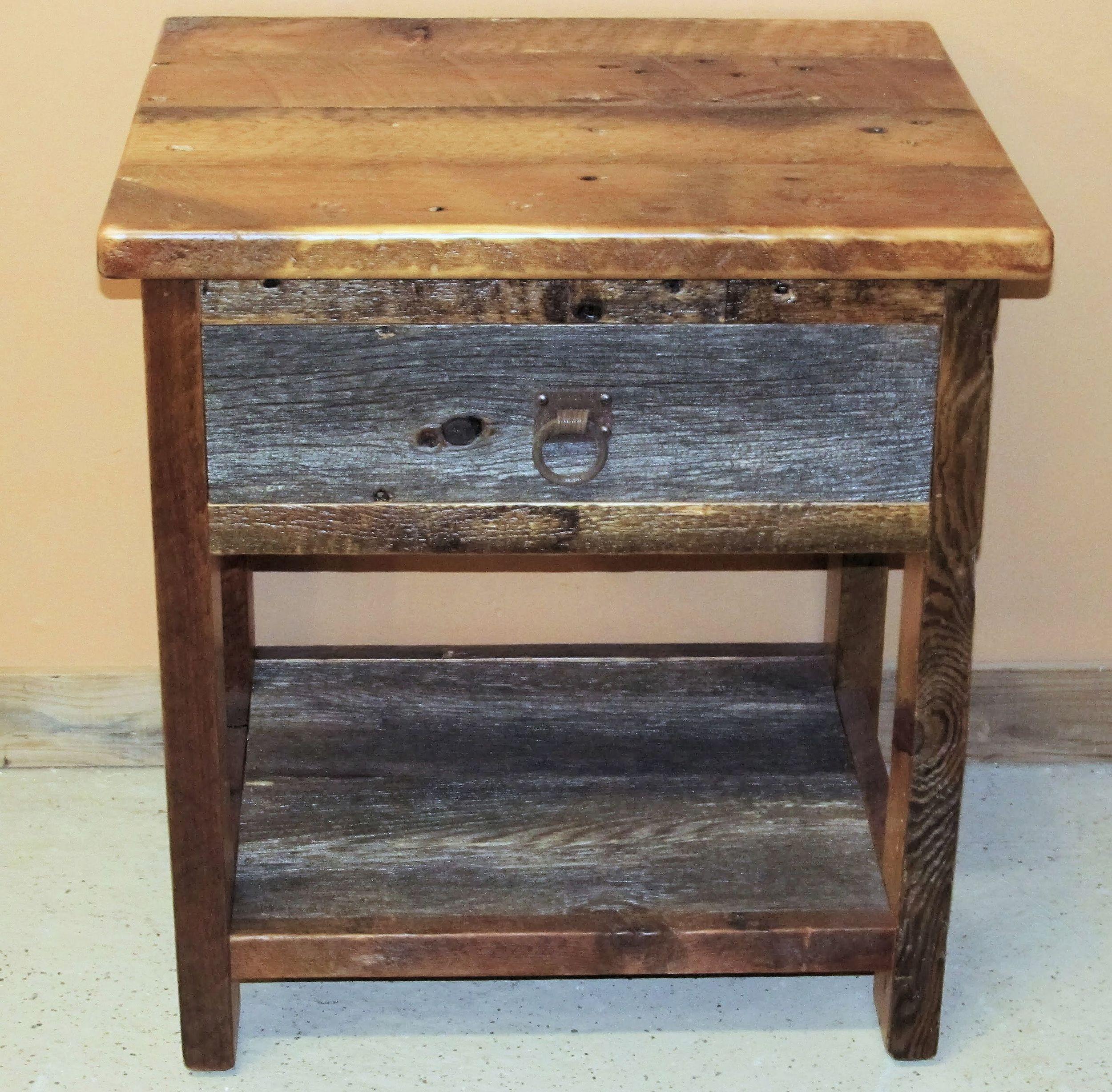 Barn Wood Nightstands End Tables Barn Wood Furniture