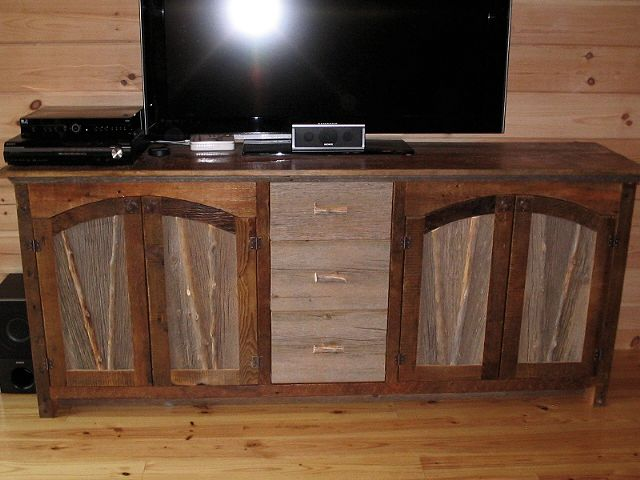 barn wood buffet cabinet two tone.jpg