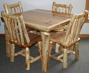 Log Kitchen Table Log Dining Room Table Vienna Woodworks