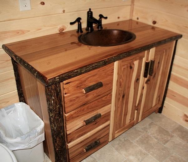 Hickory Log Hickory Vanity
