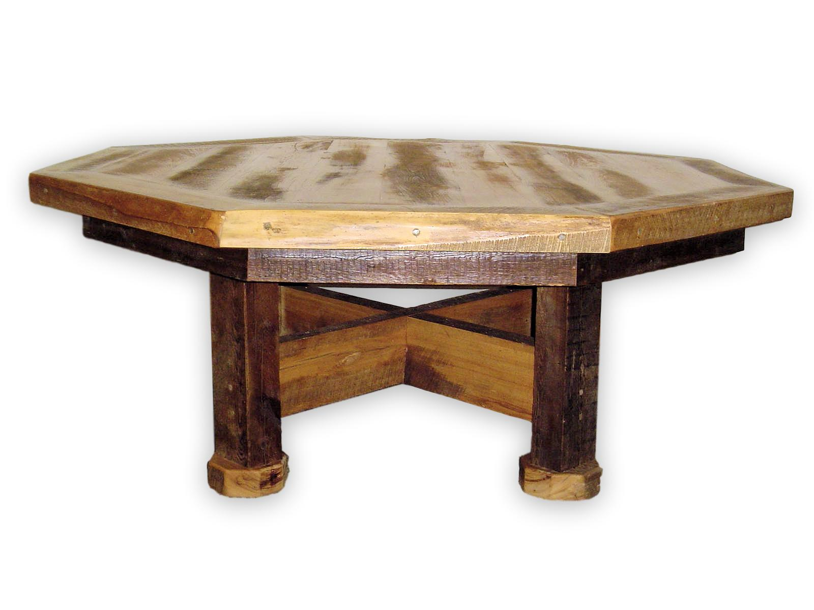This dining table comes in two different sizes and can also be made in a bar top or pub style by request.  Hand crafted in the USA, made entirely from reclaimed wood both heart pine and douglas fir, and finished with a matte finish.  May be finished in standard matte finish or a waterproof upgraded finish for durability.