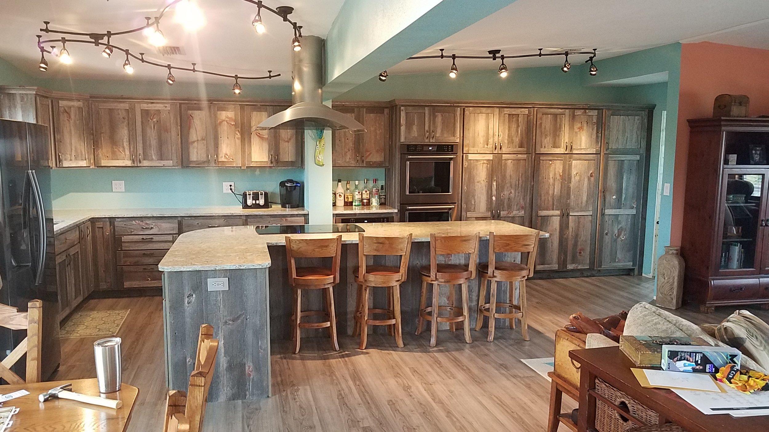 Custom Rustic Kitchen Cabinets Barn Wood Furniture