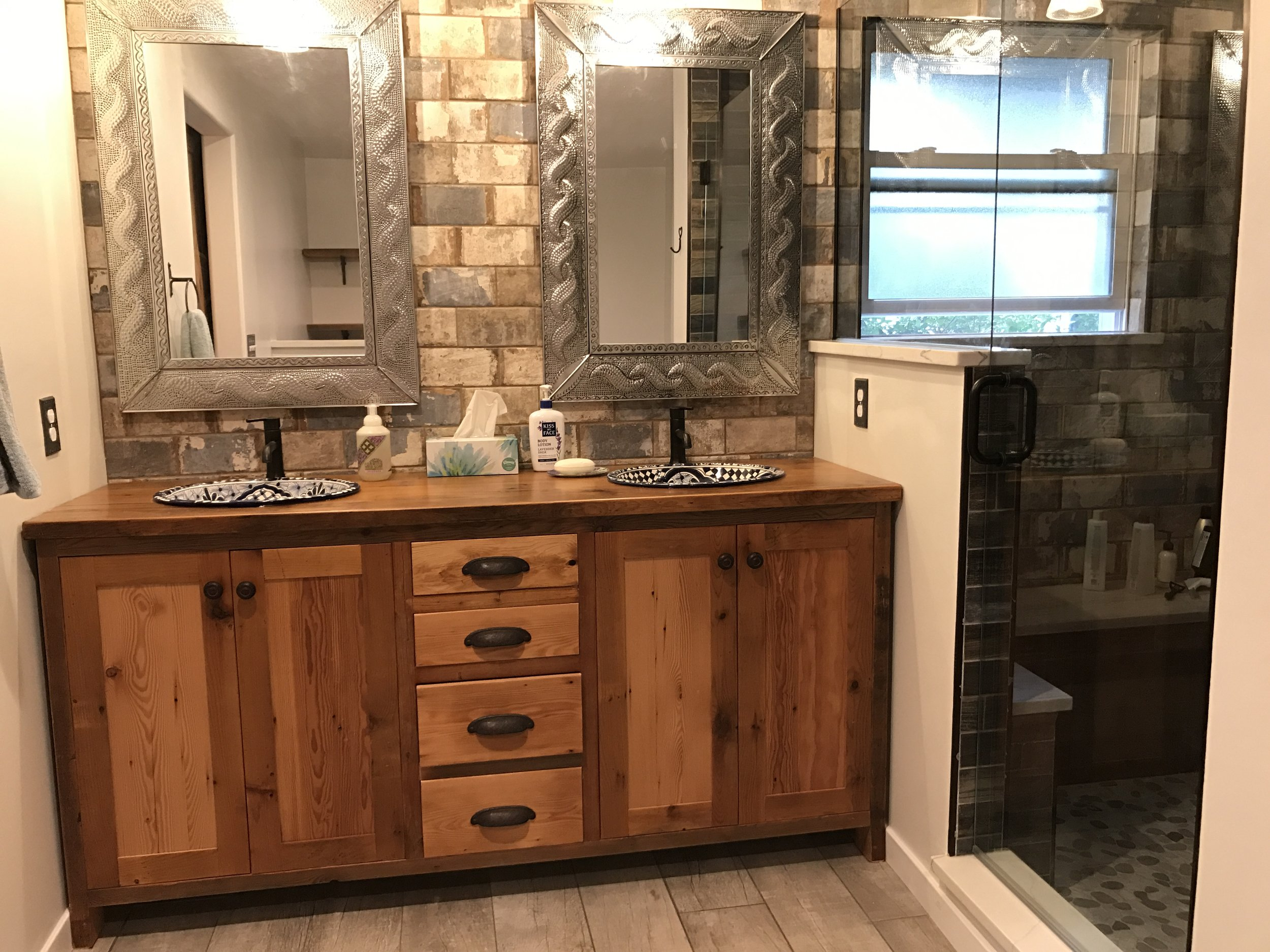 Custom Rustic Vanities