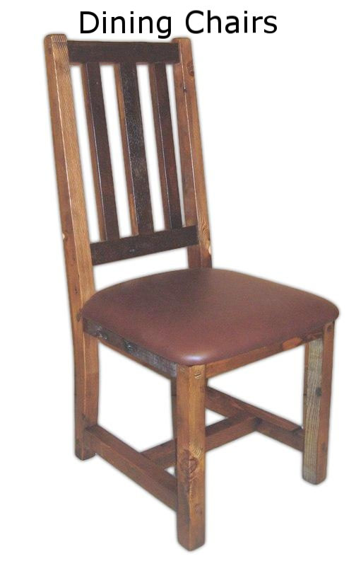 Barnwood Chairs that match all of our dining table styles.