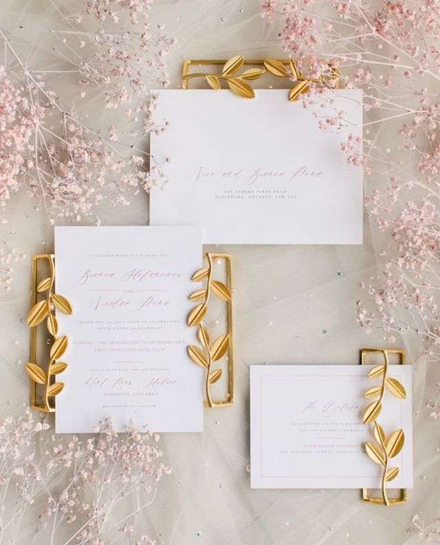 How beautiful is our #PalomaSuite customized for Bianca and Nico's #Toronto wedding celebration?  Bianca and Nico tied the knot in Santorini and then celebrated with close friends and family @mintroomstudios in Toronto. Both celebrations are featured in the newest edition of @wedluxe magazine on newsstands this week!! 😍  Photography @purpletreephotography  Planning and Design @blushingaura  Florals @flowers_time