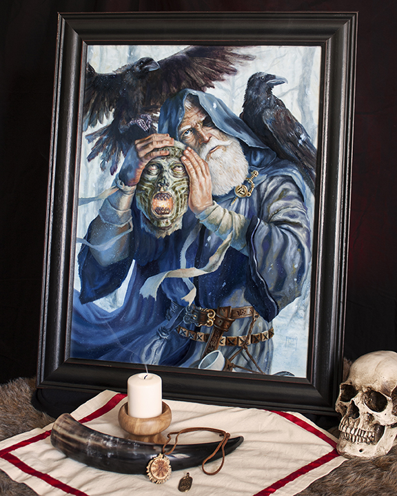 odinsecrets_viking_painting_framed