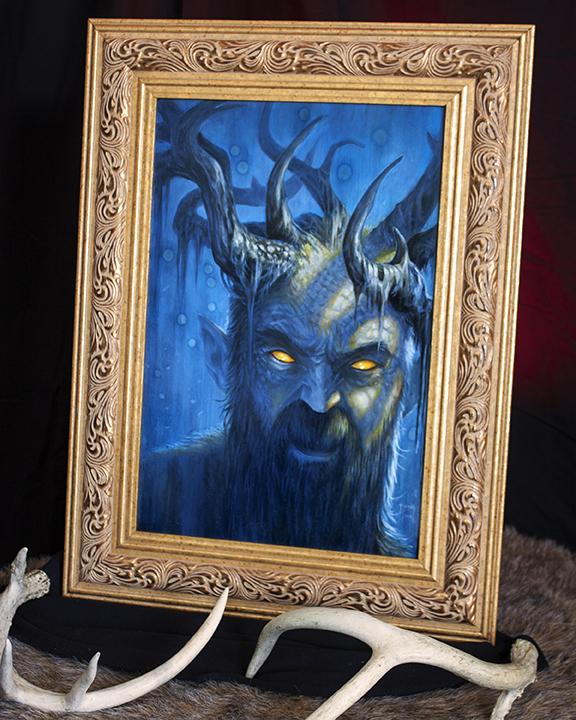freyr_viking_painting_framed