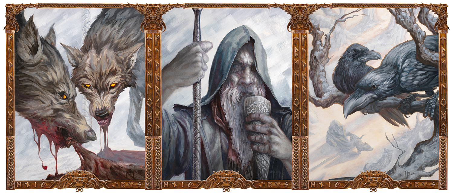 Odin Triptych  Copyright © 2019 Sam Flegal, All Rights Reserved