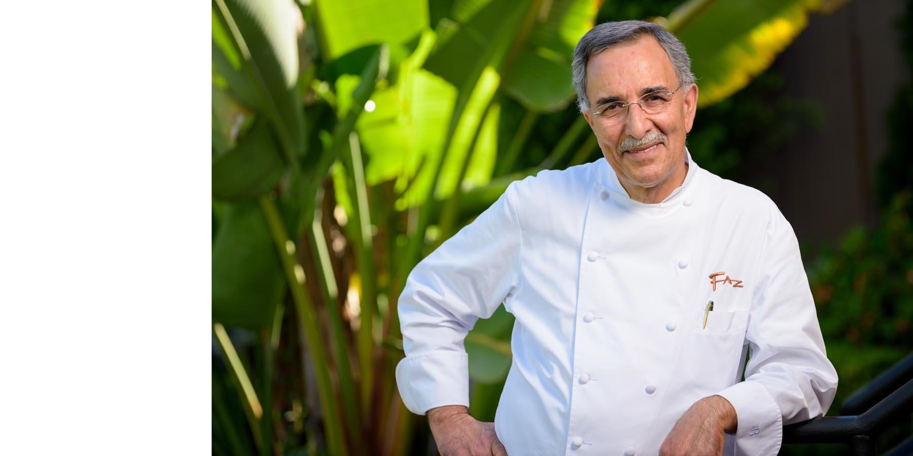 Portrait of Chef Faz outside