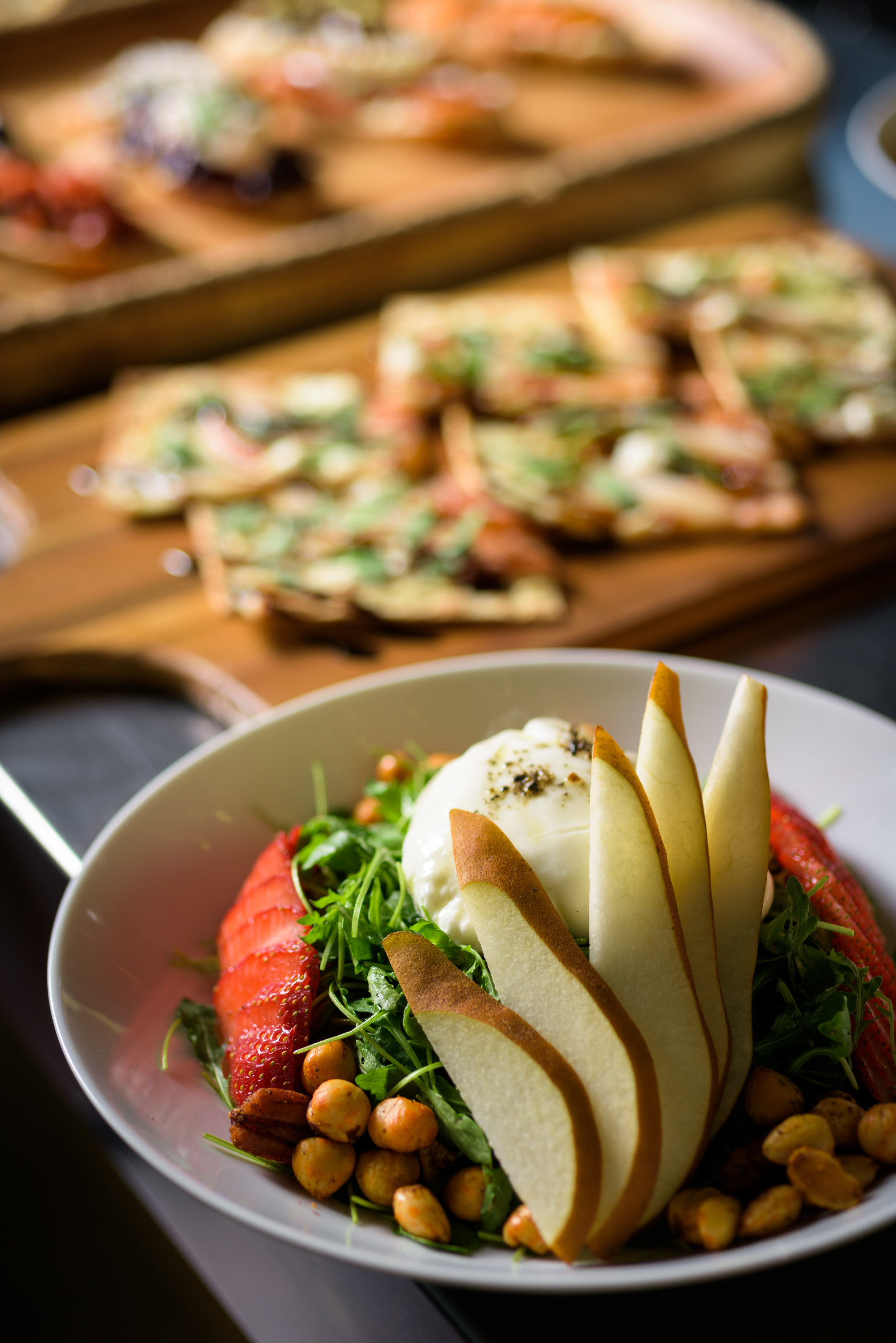 fancy salad – cupertino food photos at rootstock wine bar - photos by bay area commercial photographer chris schmauch