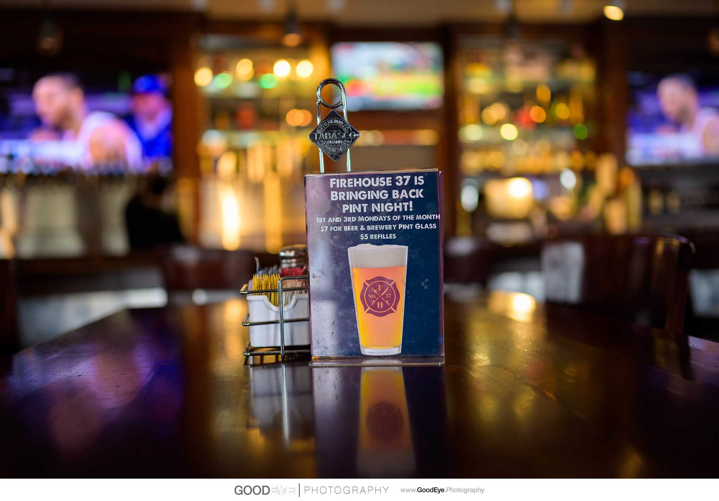 Bar Area - San Ramon Food and Drink Photography - Firehouse 37 - Photos by