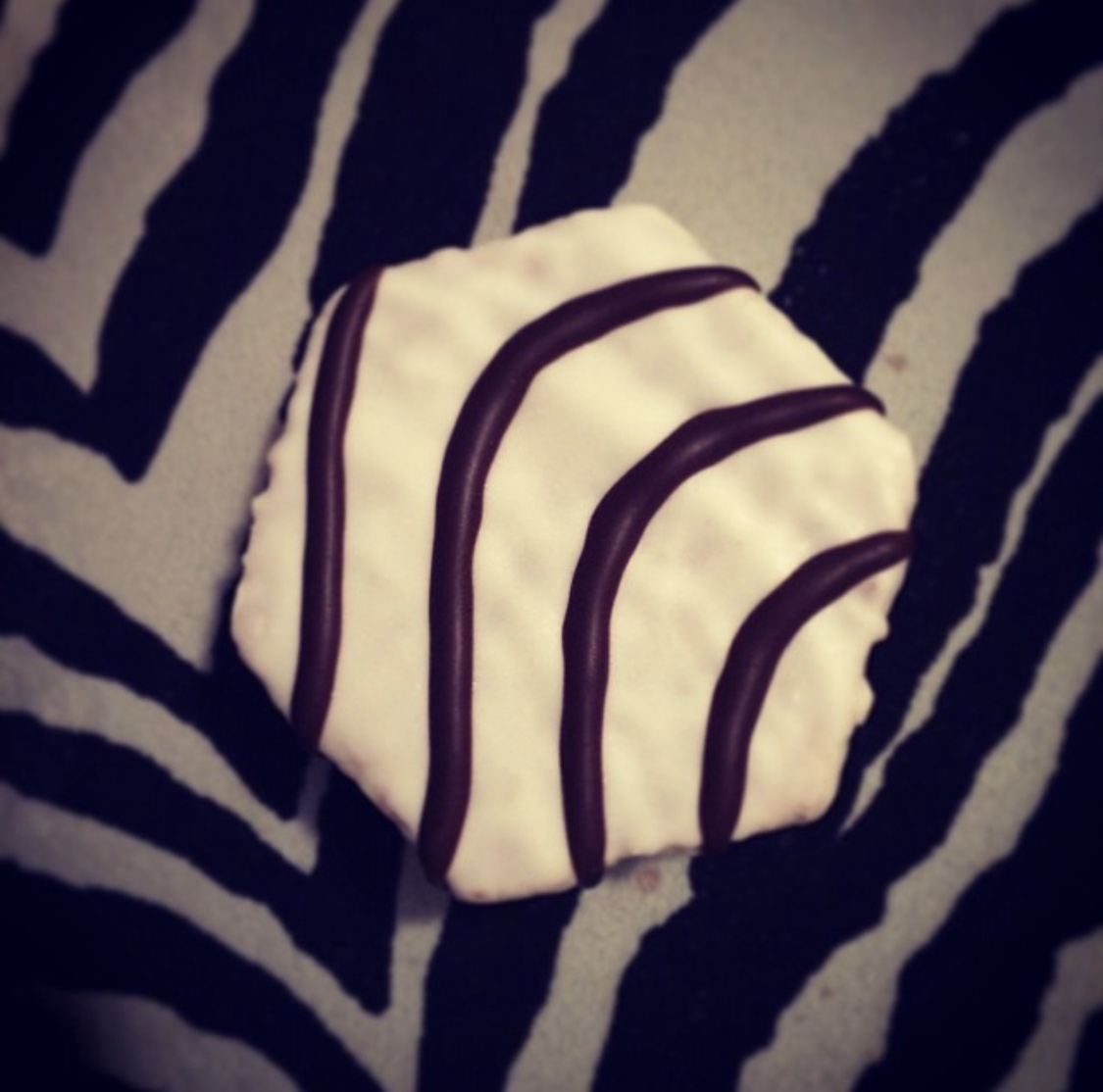 This is a zebra cake on my zebra couch. And yes, I do have a zebra couch.