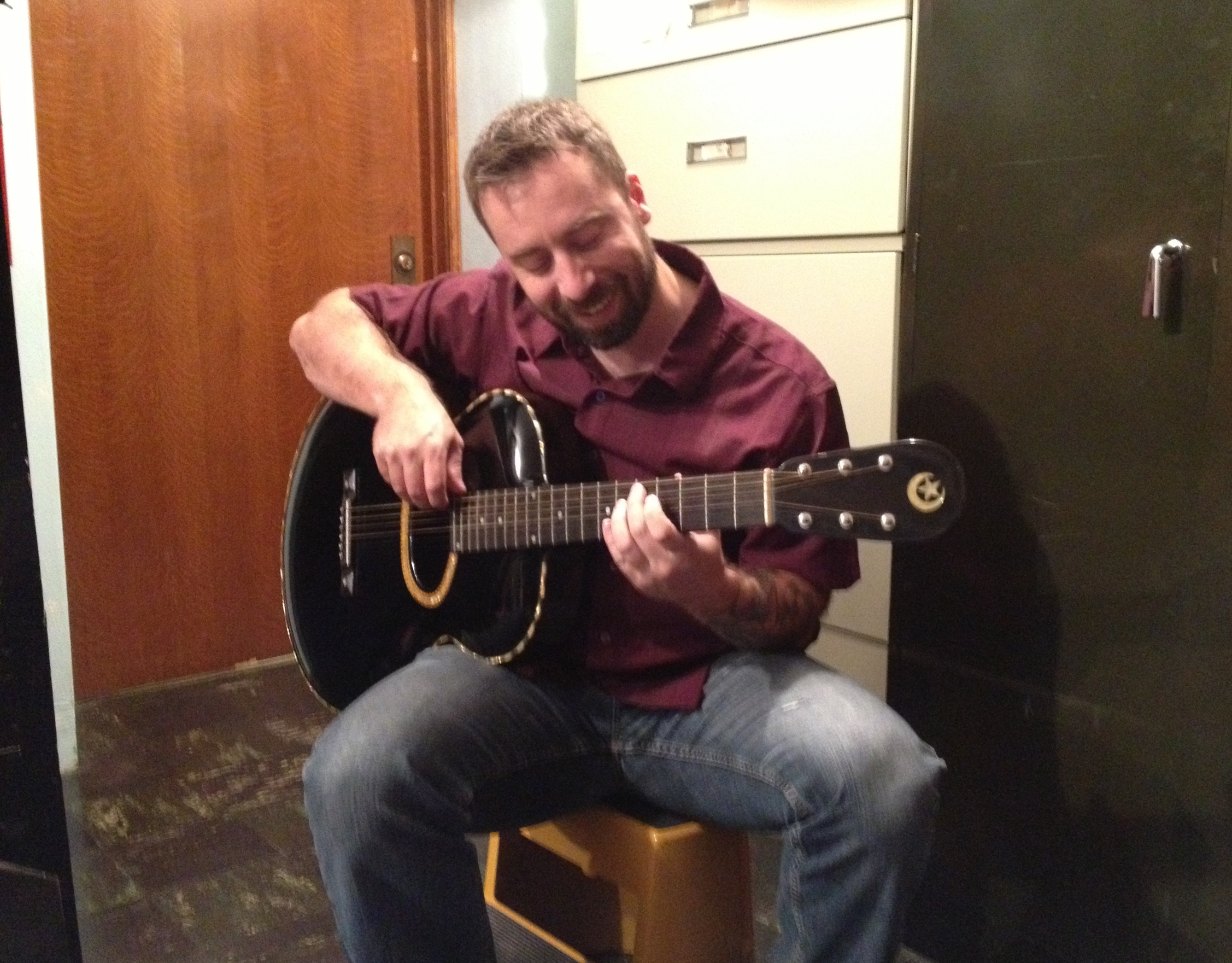 Jamming on an Orville Gibson