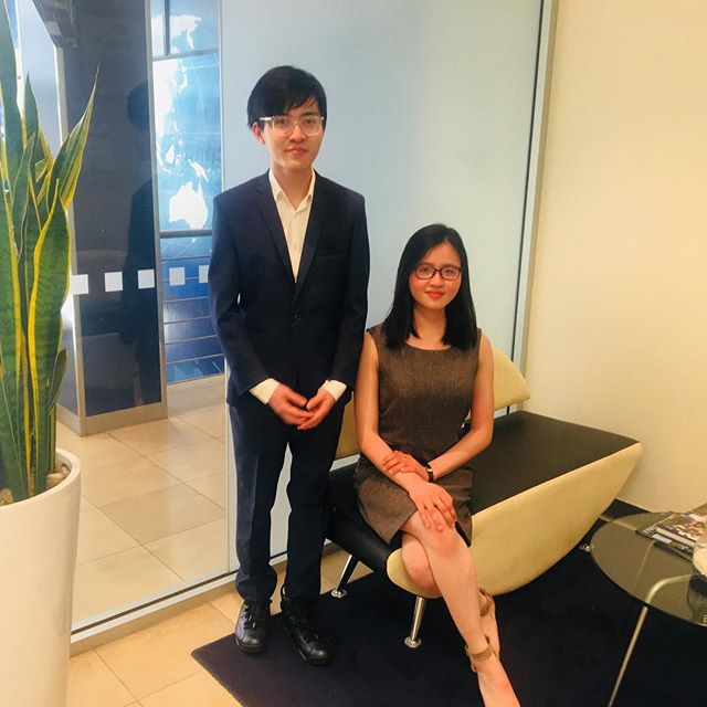 Looking sharp! These two lovely international students are heading to a special event at Government House tonight! We can't wait to hear about it- enjoy!