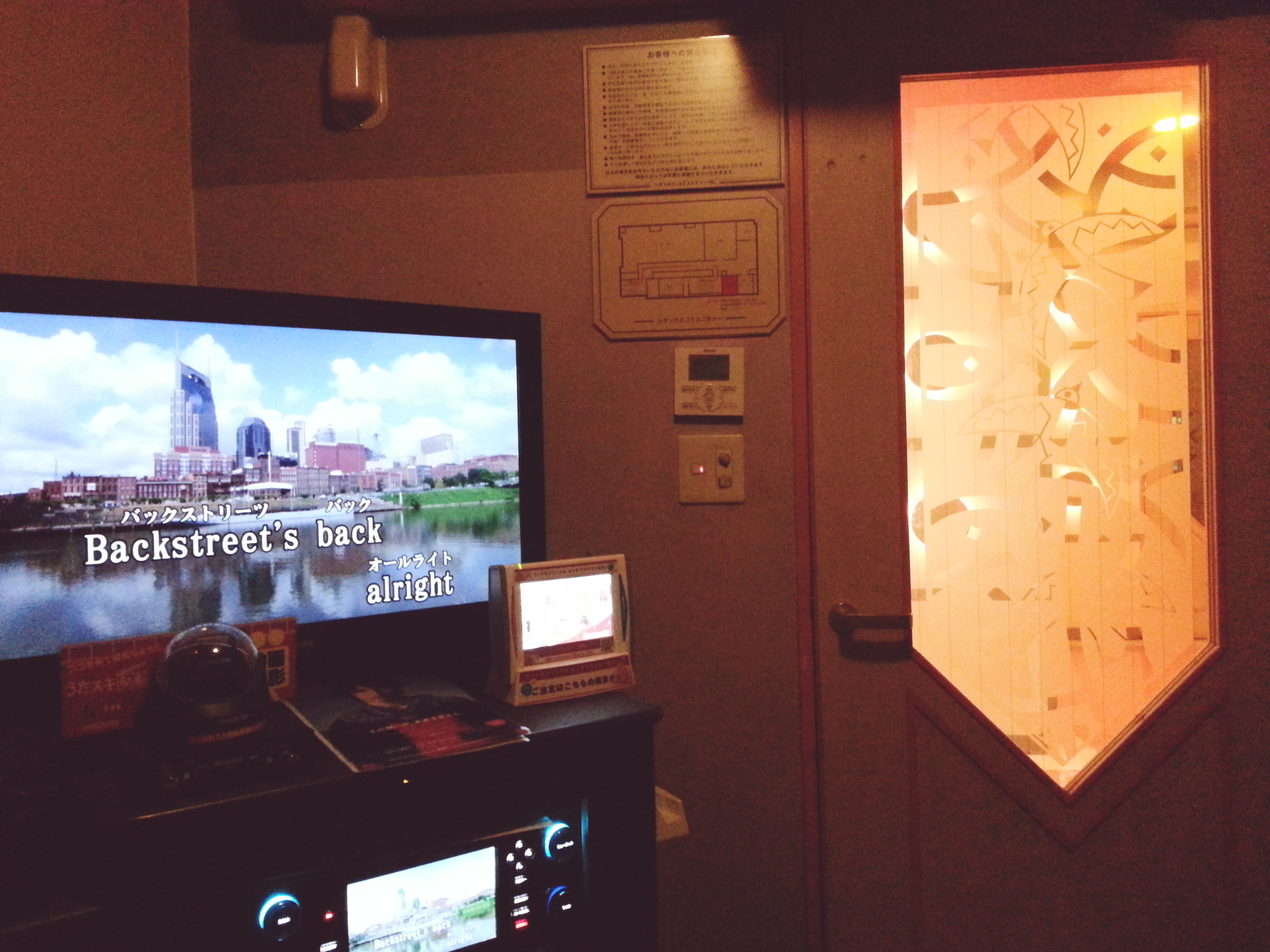 Rented a private room for a 1 hour karaoke session in Shinjuku  Cost:2500 yen / $20.54 USD