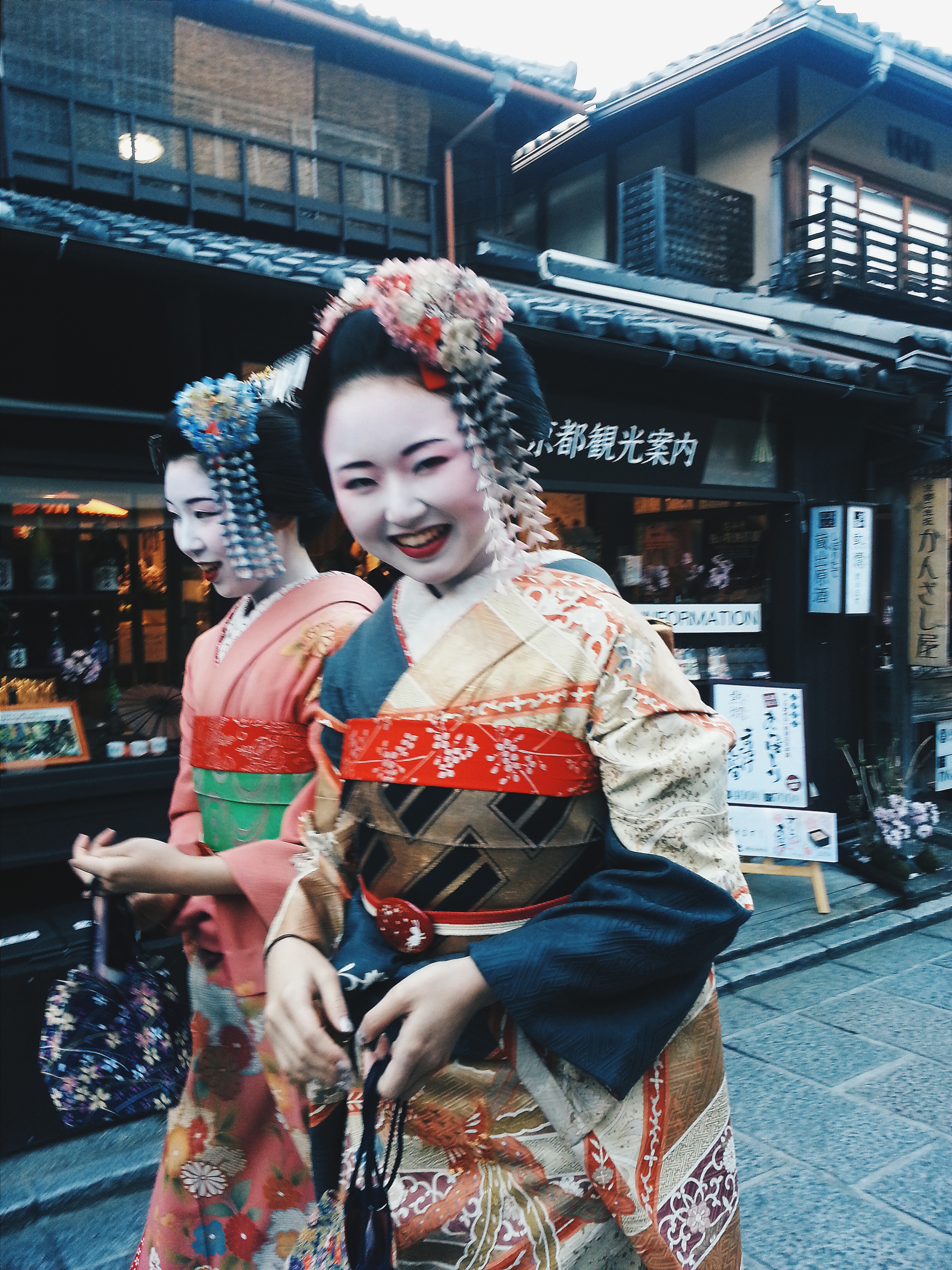 Had fun watching the girls dress-up as Maiko (geisha apprentices) in the Gion District, also known as the Geisha district where real Geishas live and train.  Cost: Free