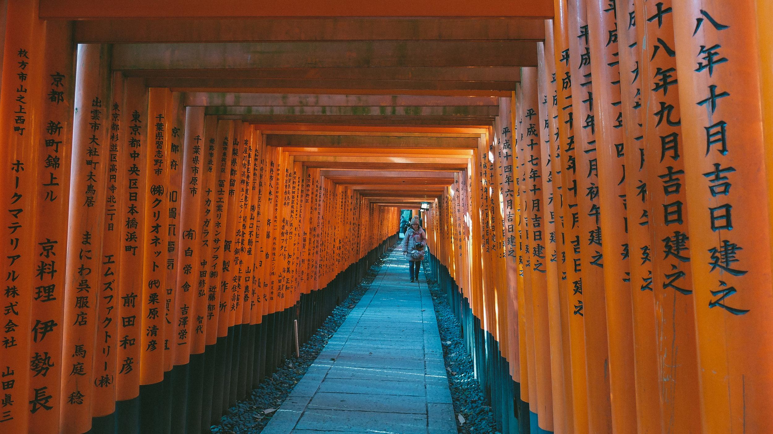 Got the iconic shot at  Fushimi Inari Taisha Shrine    Cost: Free