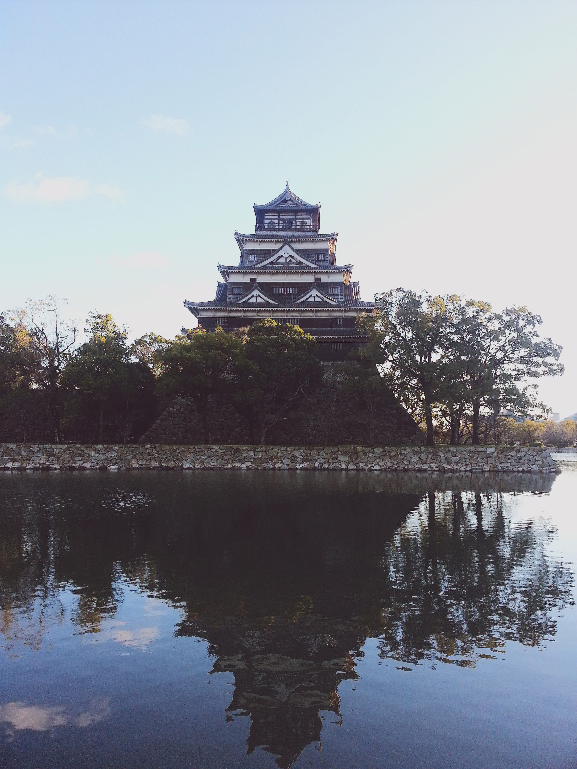 Walked around Osaka Castle and it's moat  Cost: Free if you don't go inside