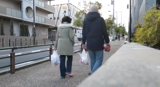 Life in Kita-Senri included walks to the grocery store and public bus rides. Spoiler alert: We loved it. / Screenshot from our video