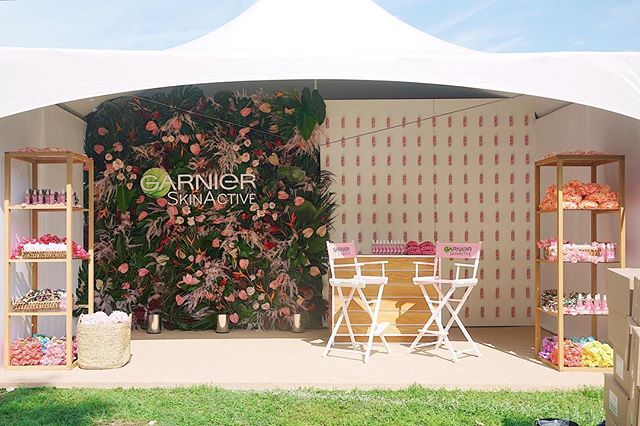 { KM partners with @tinicoch to create this rosey brand experience for @vogue x @garnierusa at @afropunk }