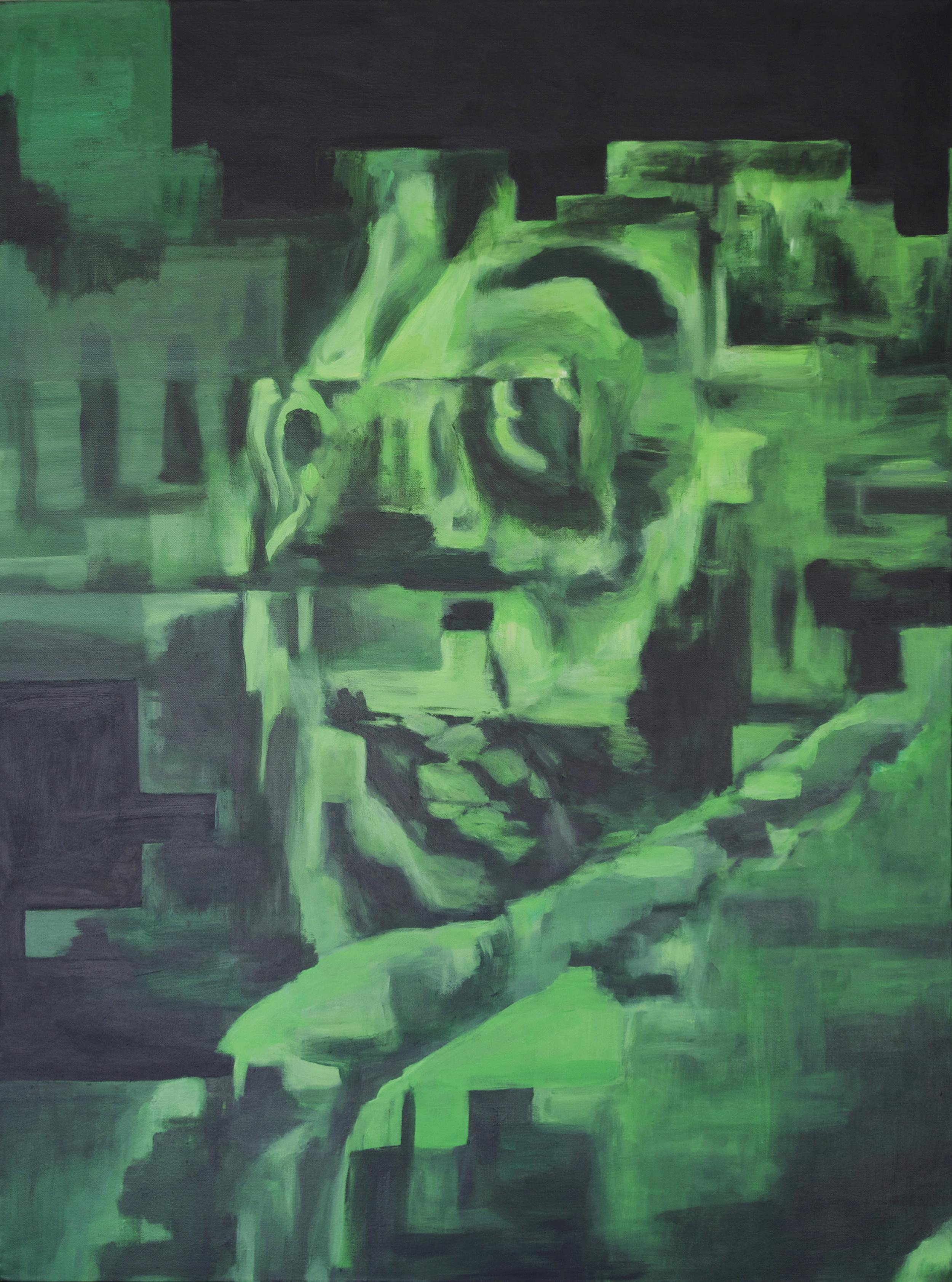"""Self Portait,"" 2015 - Acrylic, 30"" x 40"""