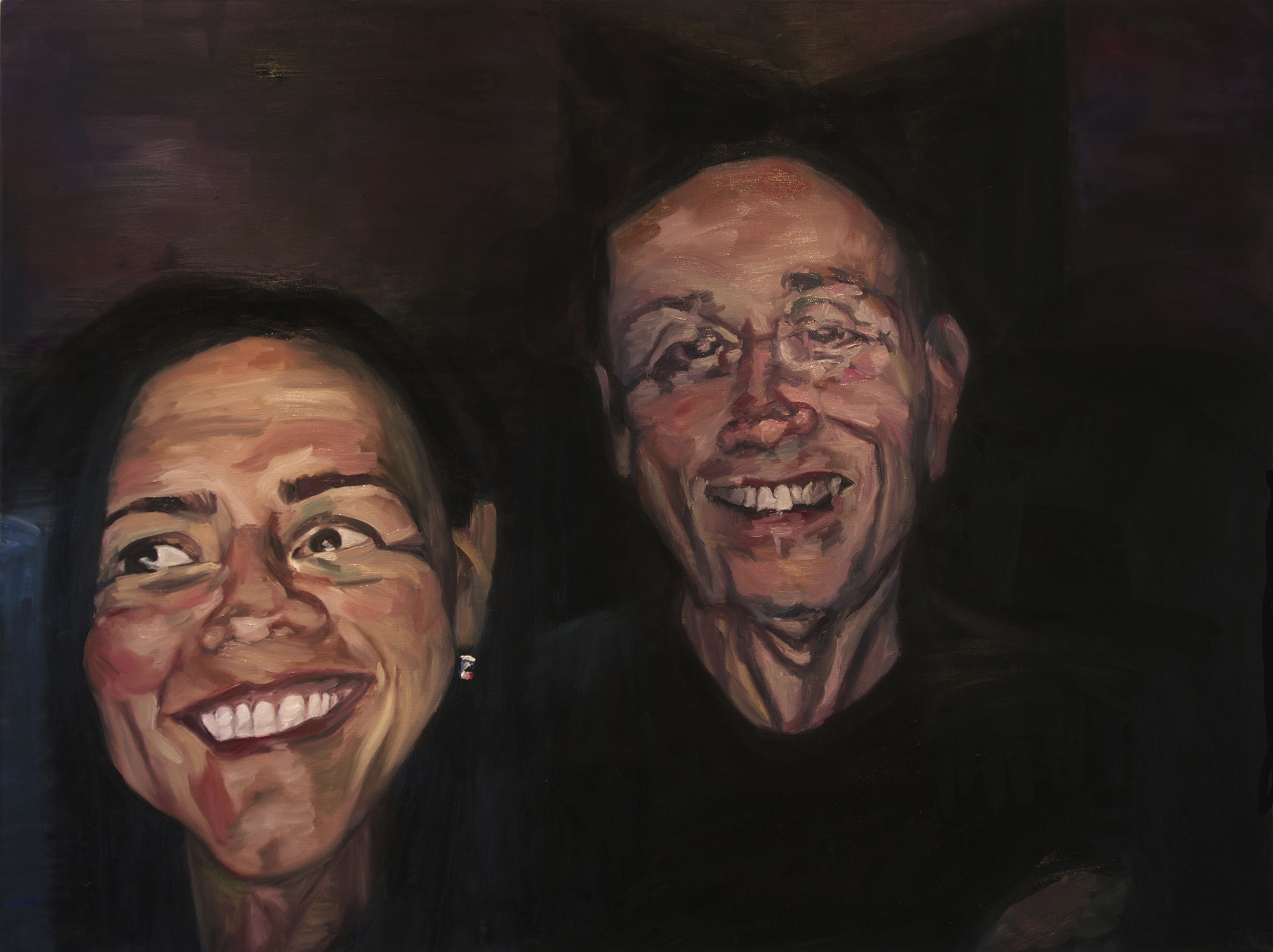 """Tricia and Richard,"" 2015 - Oil, 36"" x 48"""