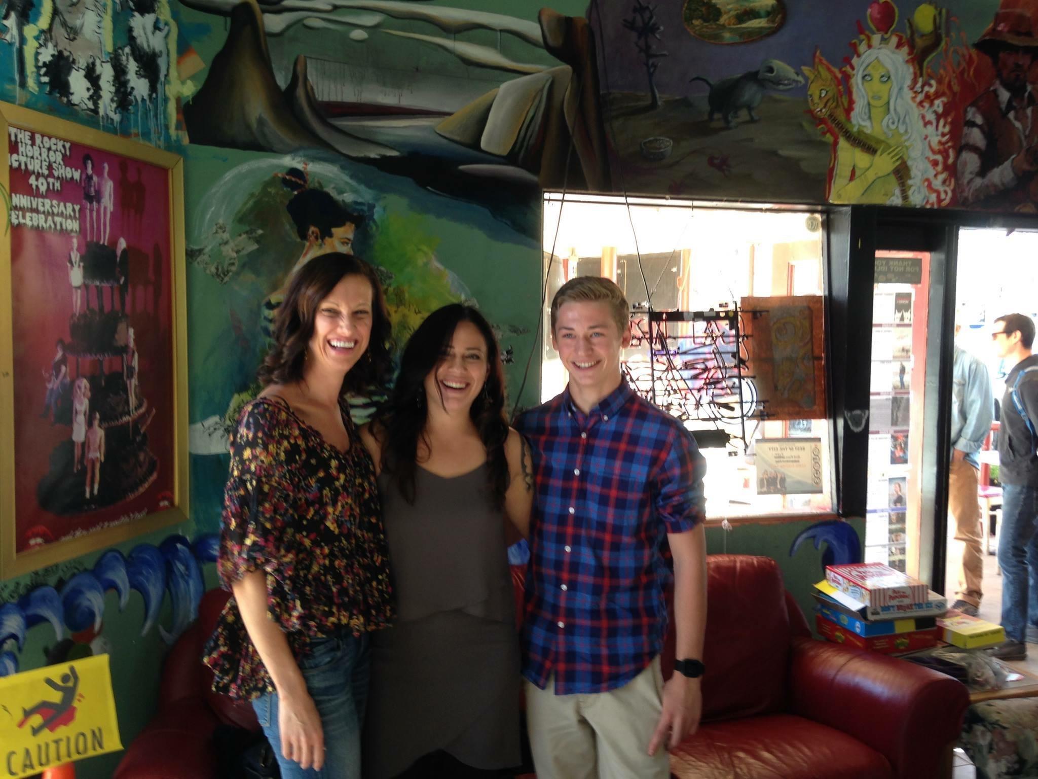 From the left - Lea Marlene, Elena Rose Davis,Conner Greenhalgh:image courtesy Elena Rose Davis Facebook page