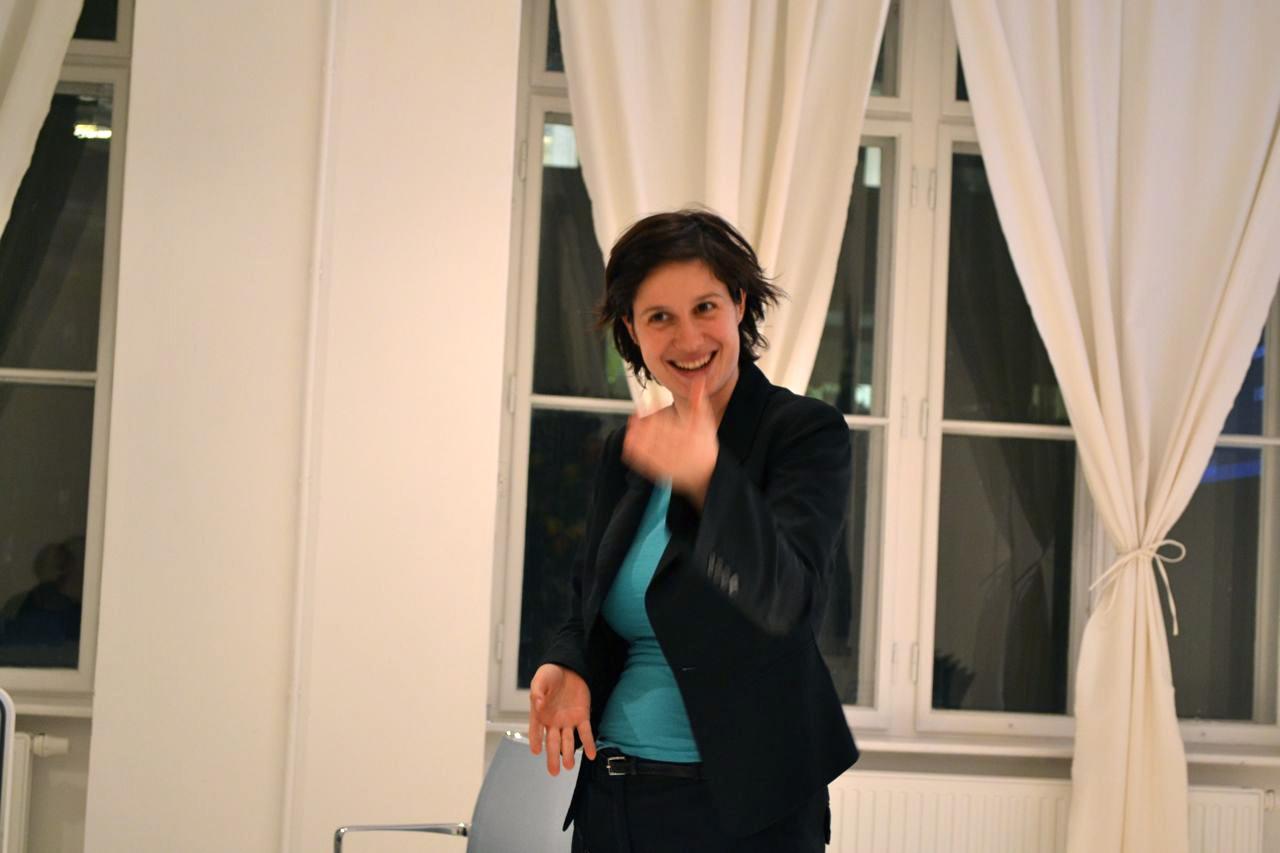 Marie Ringler of Ashoka at The Hub Vienna.