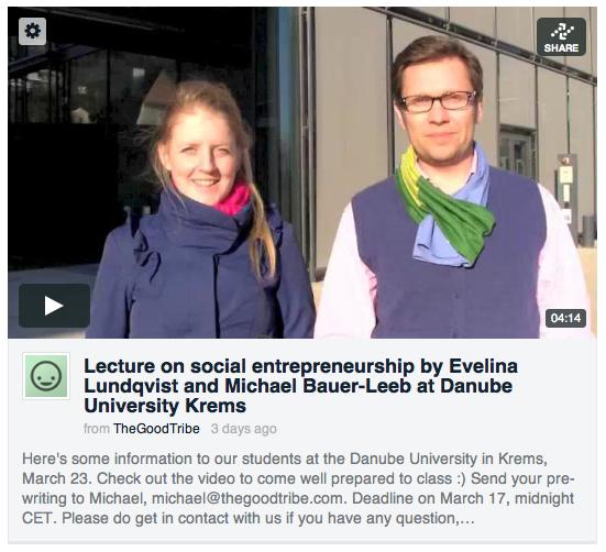 Evelina and Michael - The Good Tribe - Danube University Krems