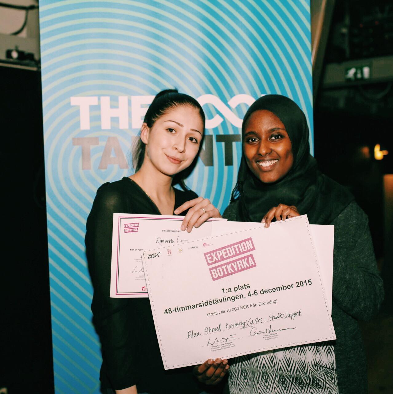 Första plats: Kimberly Cartes och Alla Ahmed, Studieskeppet