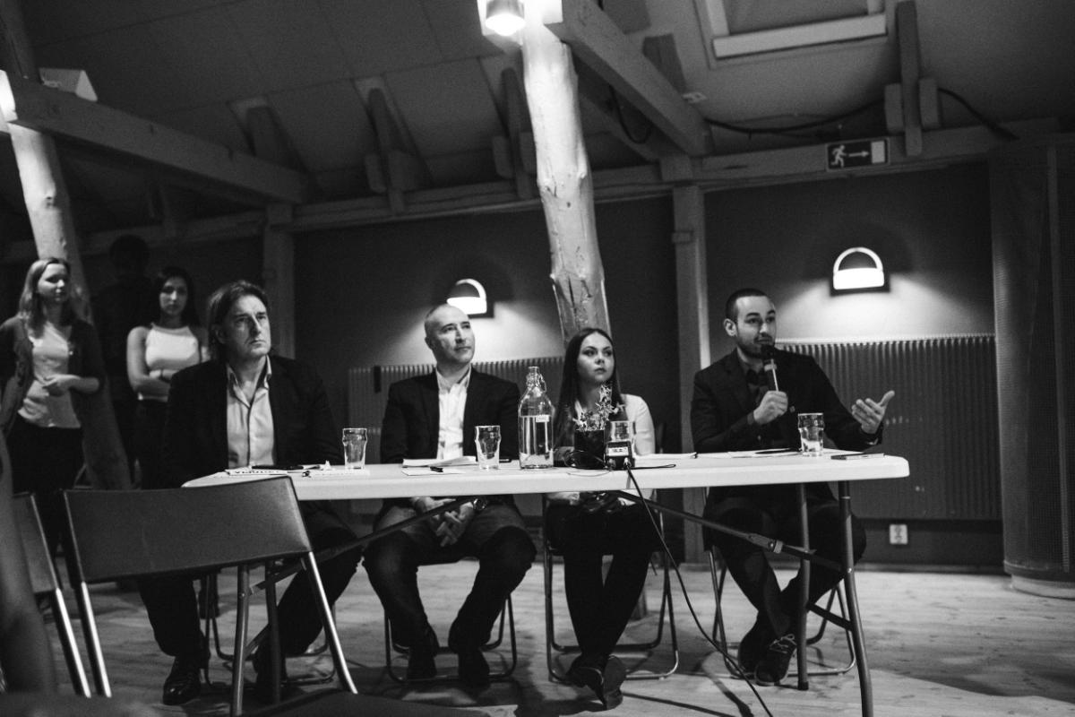 Den eminenta juryn:Jörgen Wahl,  Serkan Köse,  Nicole Eriksson och Ali Khalil.