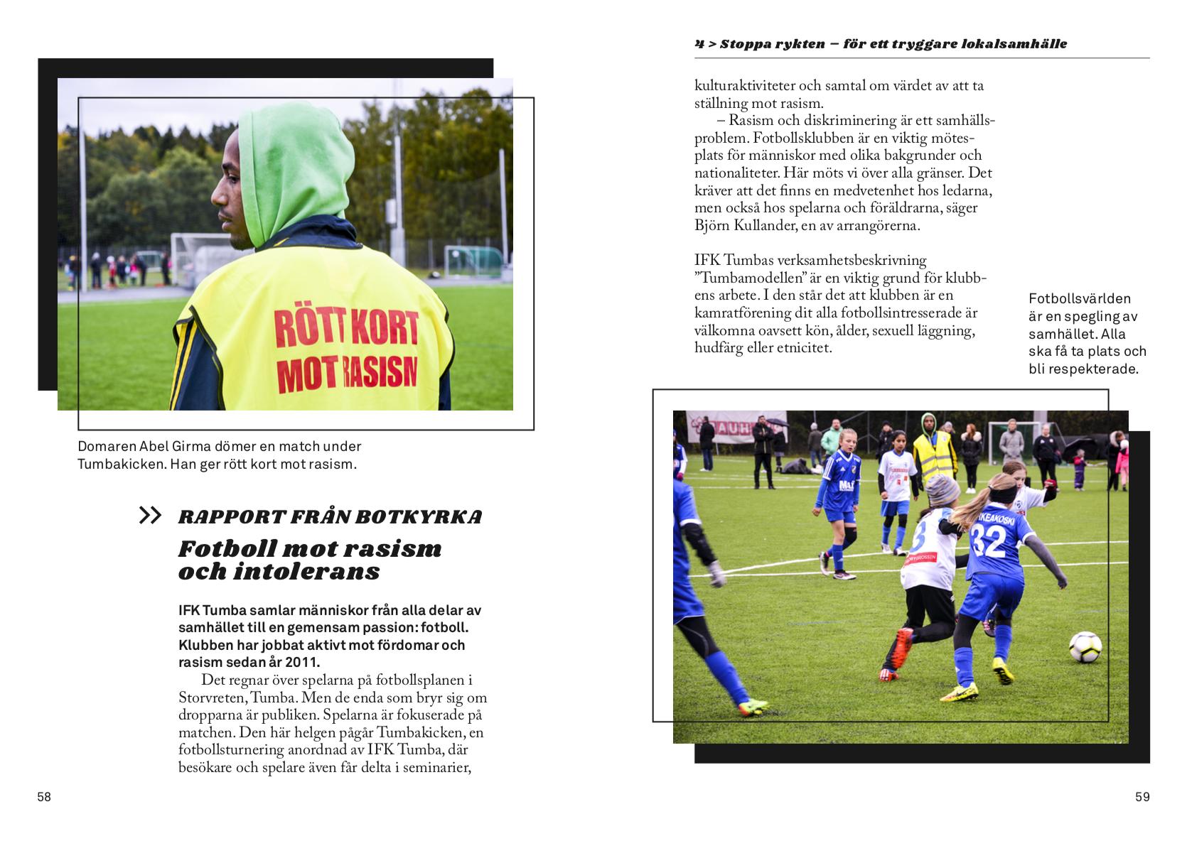 Intervju om Rött kort mot rasism med representanter för IFK Tumba